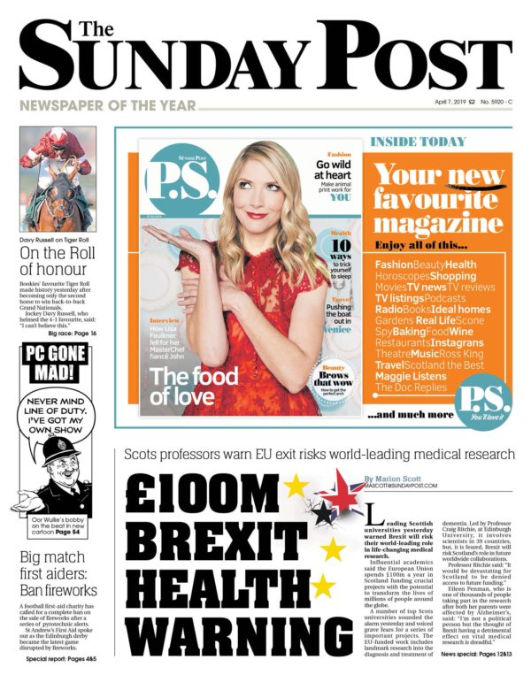 EPAD makes the front cover of the Sunday Post
